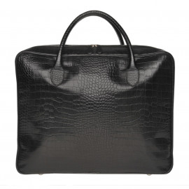 Travel Soft Suitcase MIXI CROCO black