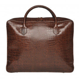 Travel Soft Suitcase MIXI CROCO brown