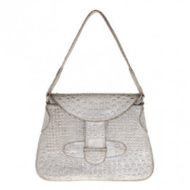 Rivet Bag small Silver-Sand