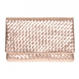 Clutch New Nappa Woven rosegold