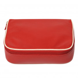 Travel kit regular Nappa red-offwhite