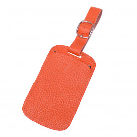 Luggage Tag Fossil orange