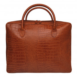 Travel Soft Suitcase Mixi Croco tan