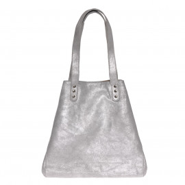 Beach Bag medium Silver-Grey