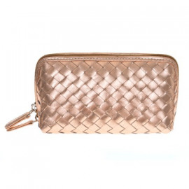 Cosmetic New small Nappa Woven rosegold