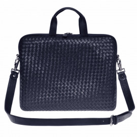 Nico Laptop Bag Nappa Woven navy-blue