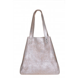 Beach Bag medium silver-beige