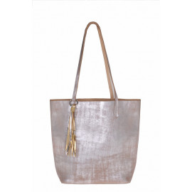 Reversable Shopper silver-sand