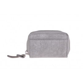Purse small silver-grey