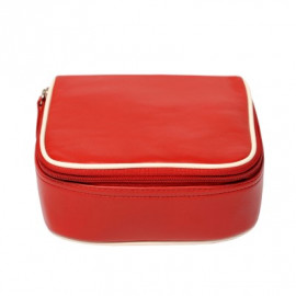 Travel Kit small Nappa red-offwhite