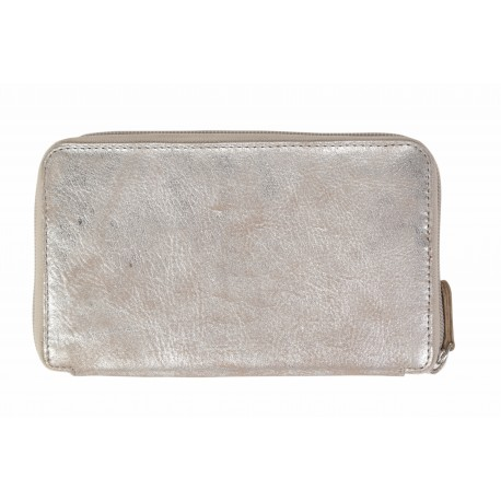 Purse long silver-dusty