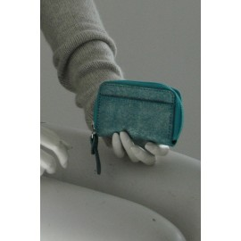 Purse small turquoise-silver