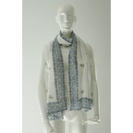 Cotton Scarf OM blue