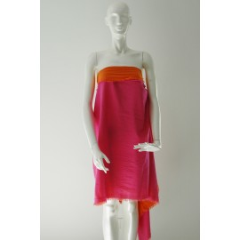 Duo Pareo Cotton pink-orange