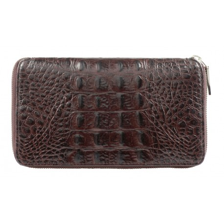 Purse Long Mixi Croco brown