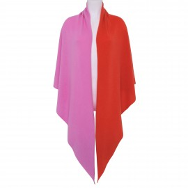 Scarf Cashmere Triangle pink-orange