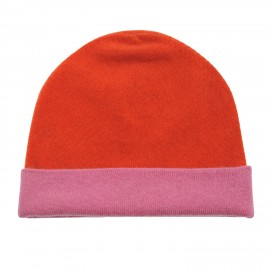 Cashmere Cap pink-orange