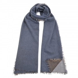 Luxury knit feltet blue-brown