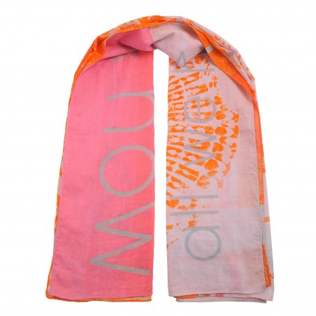 Square Cotton Scarf pink