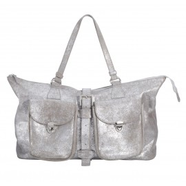 Travel Bag Zip Pocket silver-sand