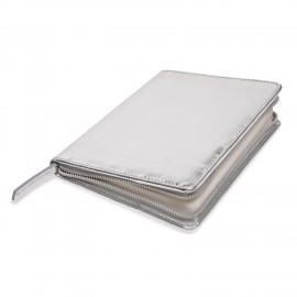 Zip Book Metallic silver