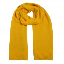 Scarf Cashmere knit yellow