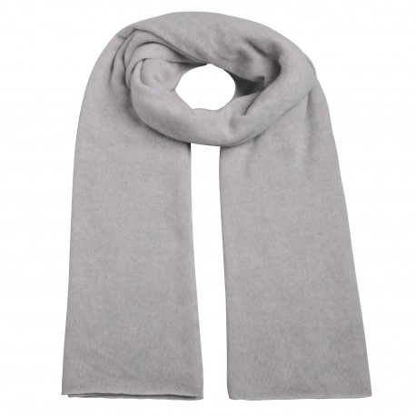 Scarf Cashmere knit light grey