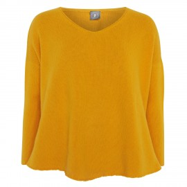 Cashmere Pullover V yellow
