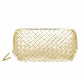 Cosmetic new medium nappa woven gold