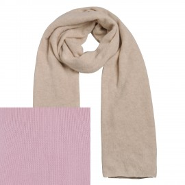 Scarf Cashmere knit cherry blossom rose
