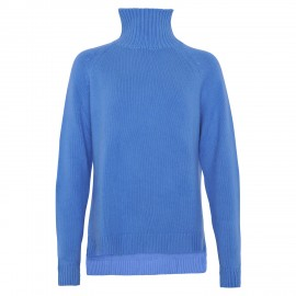 Cashmere Turtle Neck long skyblue