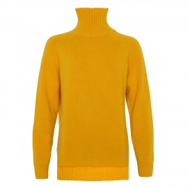 Cashmere Turtle Neck long yellow