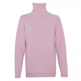 Cashmere Turtle Neck long Cherry blossom rose