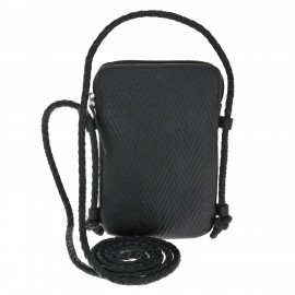 Mobile pouch Cord Bonded  black Cord Handle