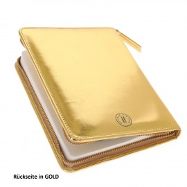 Zip Book Metallic gold