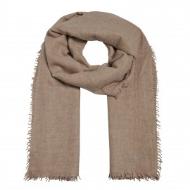 Luxury Scarf 4 Side frings grey