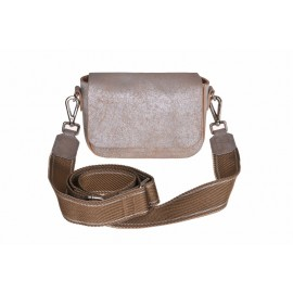 Boxy Bag Magnet gold-beige, handle white/beige