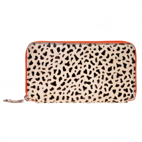 Purse long Leo, Zipper orange