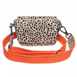 Boxy Bag Magnet Leo medium Handle orange