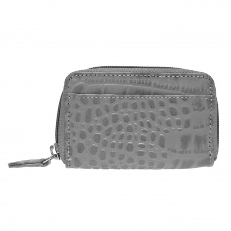 Purse small Mixi Croco grey