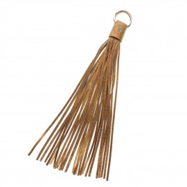 Tassel 30cm Copper-Sand Leather Used look