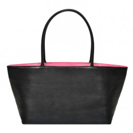 Asia Bag small Nappa black with pink