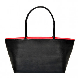 Asia Bag small Nappa black with red