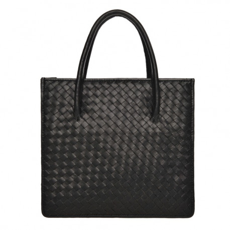 Square Bag Nappa Woven Brown