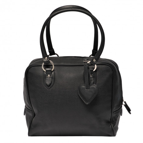 Trolley Pepperming Bag Veloursleder black