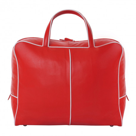 Travel Bag Nappa red