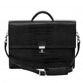 Business Bag Homme Mixi Croco black