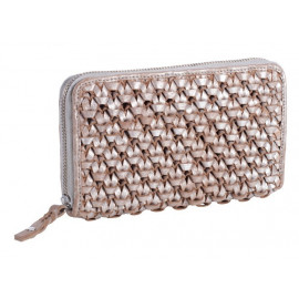 Makramee Purse longused look, Silver-Sand