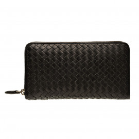 Purse long Nappa Woven black