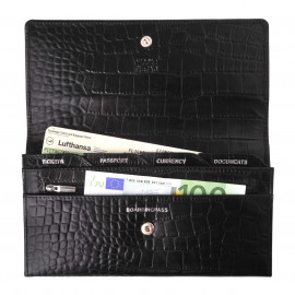 Travel Purse Mixi Croco black